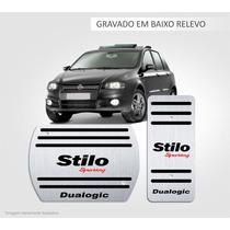 Pedaleira Aço Inox Premium Fiat Stilo Dualogic!!!