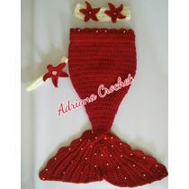 Sirena Cola Tejida Crochet Bebés