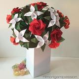Flores De Papel De Origami X 6 Unidades