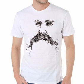 Remera Friedrich Nietzsche Bigote Retrato Filosofia Dibujo