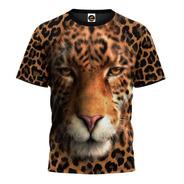 Camiseta 3d Onça Animais Desenho Florido Camisa Blusa 01