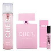 Set Perfume Mujer Cher Dieciocho + Talla 20 Ml+ Body Splash