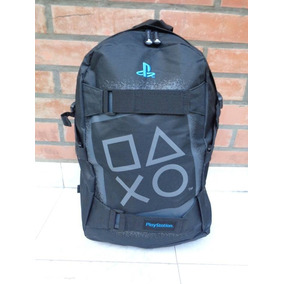 Mochila Playstation Porta Notebook Logos Cuadrados
