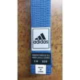 Cinta De Karate adidas Original Azul Celeste