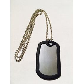 12 Collares Con Placas Tipo Militar Grabar Identificacion