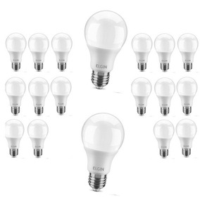 Kit 18 Lâmpada Led Bulbo 9w Elgin Inmetro Bivolt E27 A60