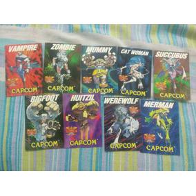 Cards Street Fighter/darkstalkers Capcom Fliperama Anos 90