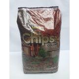 Chips De Corteza Color Ocre 50lts Distribuidor Terrafertil