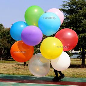 10 Globos Gigantes Colores Ovalados 1m Latex Fiesta Decora