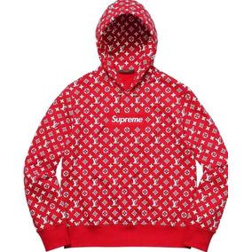 Blusa Moletom Supreme Loius Vuitton Unissex Vermelha Oferta
