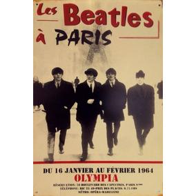 Cartel Chapa Vintage Bealtes Rock Pop Poster Música Guitarra
