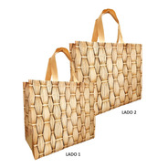 50 Sacola Tnt Laminado Reutilizável - Ecobag Retornável Ipan