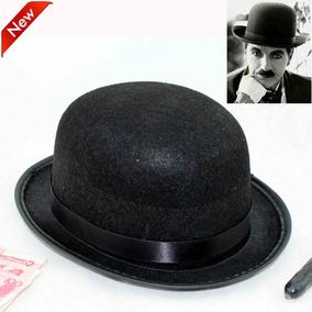 Chapéu Coco Bowler Chaplin Preto Feltro