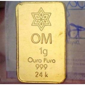 Ouro 24k Puro - Barra De 1g Com Certificado De Autenticidade