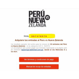 Entradas (2) Perú Vs Nueva Zelanda (norte)
