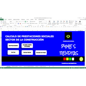 Calculo Prestaciones Sociales Sector De La Construccion