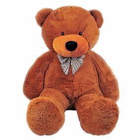 Urso De Pelucia Cacau Gigante Marrom 120cm Frete Gratis