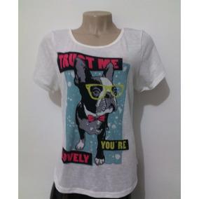 Blusa Camiseta Manga Curta - Estampa De Cachorro