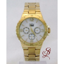 Relógio Dumont Feminino Dourado - Sz85130m