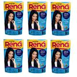 Kit Com 6 Hene Gel Rena Preto Azulado 180g