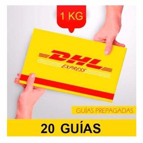 20 Guia Prepagada Dia Siguiente Dhl 1kg +recoleccion Gratis