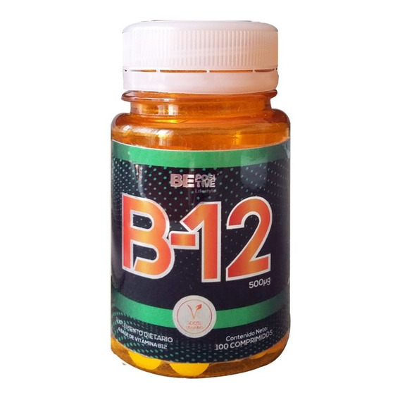 Vitamina B 12 500 Mcg Be Positive Apto Vegano 100 Tabletas