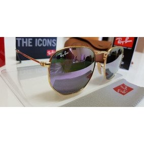 4bd30845a9ceb Oculos Rayban Round Hexagonal - Óculos De Sol no Mercado Livre Brasil