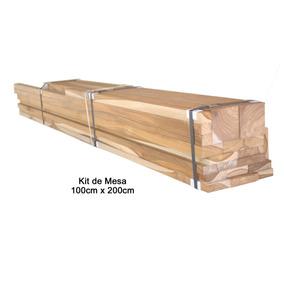 Kit Para Fabricar Uma Mesa De Madeira Teca 100cm X 200cm