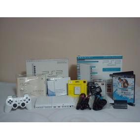 Playstation 2 Branco - Completo!