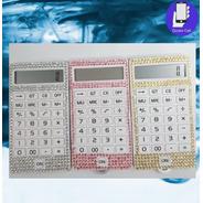 Calculadoras  Pequena Personalizada Com Strass E Corda