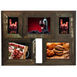 Porta Retrato De Madeira Rústica Quadro De Fotos 10x15 15x21