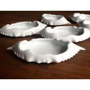 Kit 6 Casquinhas De Siri Porcelana Branca Forno E Microondas