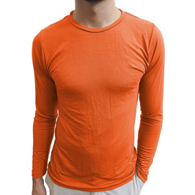 Camiseta Masculina Básica Gola Careca Manga Longa e6dbe244b952f