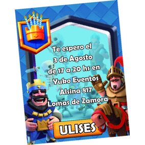 Tarjetas Invitaciones Personalizadas Clash Royale