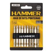 Kit Bits Ponteira Parafusadeira/furadeira Longa 10pc Hammer
