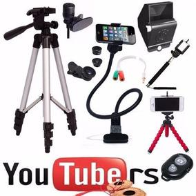 Myself Selfie Perfeita + Kit Youtuber Gravação Celular Flash