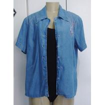 Camisa Jeans Feminina Suzel Tamanho 44 C/ Strech Li
