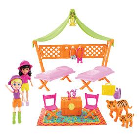 Boneca Polly Pocket Com Conjunto Aventura Na Selva Mattel