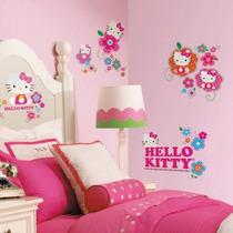 Hello Kitty Floral Boutique Adhesivos De Pared