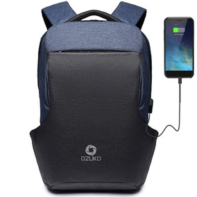 Mochila Backpack Usb Antirrobo Osuko Impermeable Cargador