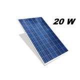 Painel Placa Célula Energia Solar Fotovoltaica 12v 20w Watts