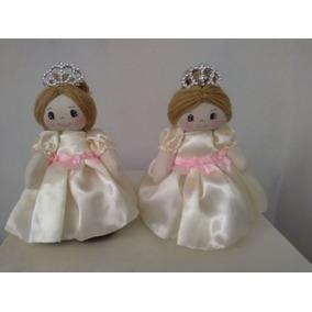 Kit Bonecas De Pano Princesa 25 Cm