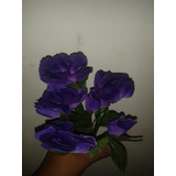 Flores Artificiales Moradas Bellas