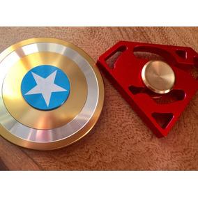 Fidget Spinner Metálico Antiestres Capitán América