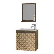 Conjunto Para Banheiro Siena - Madeira Rústica/madeira 3d