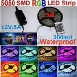 Cinta Rollo Tira 5mt 5050 Luces Led Multicolor Rgb+control