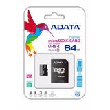 Memoria Micro Sd Xc Adata 64gb Uhs-i Clase 10 Envío Gratis!!