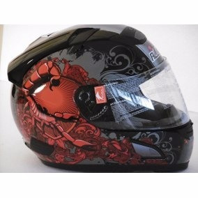 Casco Moto Pista Integral Alltop Scorpion Rojo Talle S / Xl