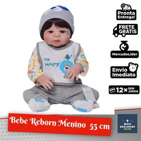Bebe Reborn Menino Lindo Pode Dar Banho 100% Silicone