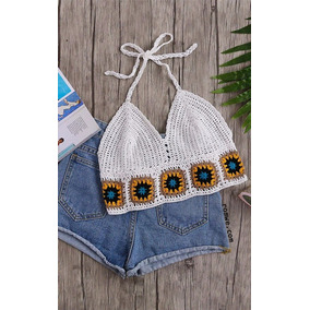 Bralette Trajes De Baño Crop Top Faldas Short Tejidos